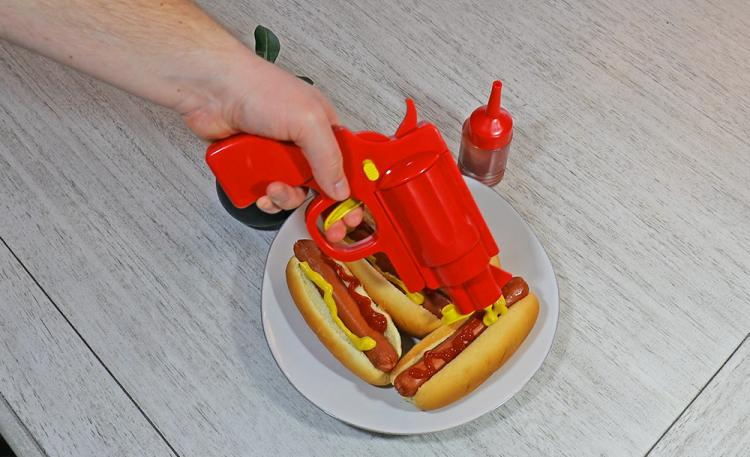 Squirts Ketchup and Mustard With the Pull of a Trigger