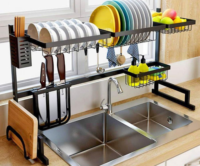 Kitchen Sink Drying Rack.Over The Sink Dish Drying Rack