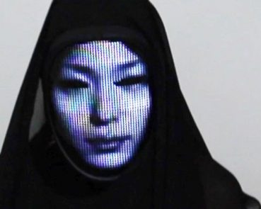 led face changing halloween mask