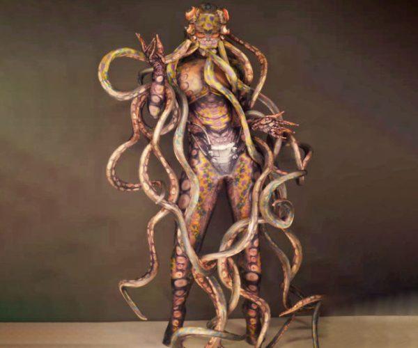 octopus monster cosplay archangeldesignart