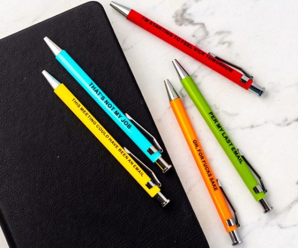 offensive workplace pens etsy offensivecrayons