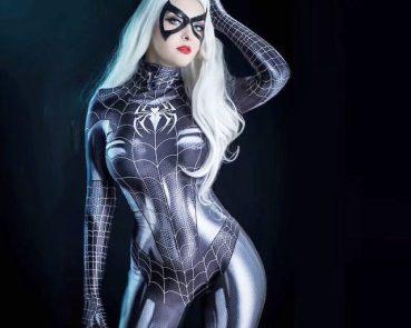 spider woman black bodysuit