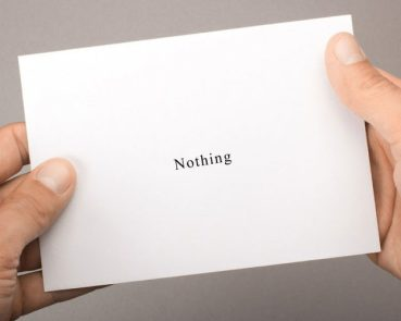the nothing birthday card