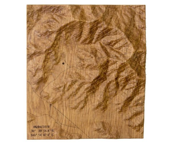 3d wooden topographic maps